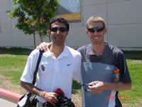 Amol and patient, Tim Broe 3 time National 5K Champion