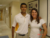 Amol and patient, Stacy Dragila Olympic Pole Vault Gold Medalist