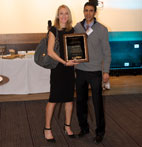AAPSM and Amol Saxena Awarded the AAPSM Dr. John Pagliano Golden Foot Award to Paula Radcliffe in December 2014 in Munich, Germany